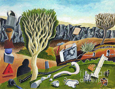Unusual Objects in a landscape by William B Hogan