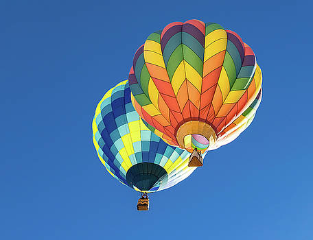 Up in a Hot Air Balloon by James Sage