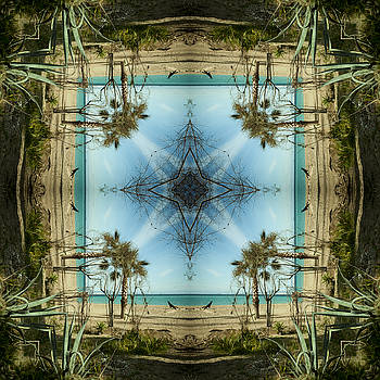 Up Ward Dog Mandala by Julian Venter