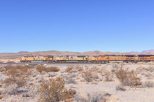 UP7958 and BNSF4493 by Jim Thompson