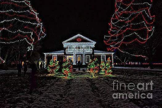 Upper Canada Village - Chrysler Hall - Christmas Lights by Robert McAlpine