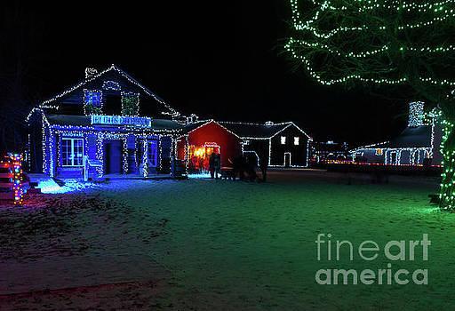 Upper Canada Village - Dry Goods Store - Christmas Lights by Robert McAlpine