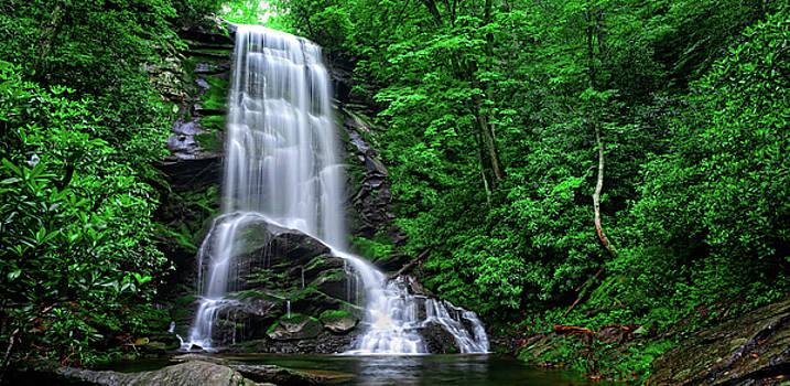 Upper Catawba Falls in Summer by Matt Plyler