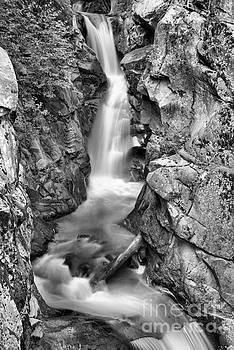 Adam Jewell - Upper Christine Falls - Black And White