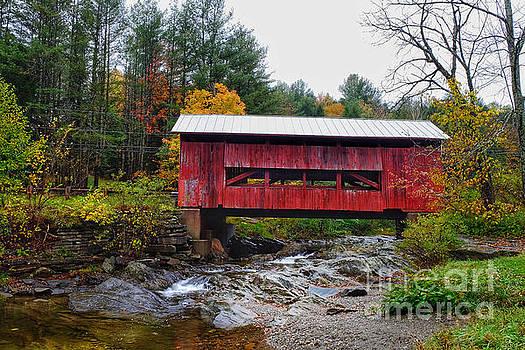 Upper Cox Brook Covered Bridge in Northfield Vermont by T Lowry Wilson