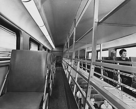 Chicago and North Western Historical Society - Upper Floor of Bilevel Car - 1959