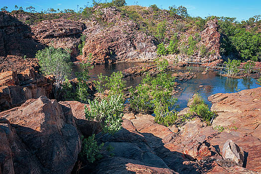 Upper Pools at Edith Falls, Katherine, Australia by Daniela Constantinescu