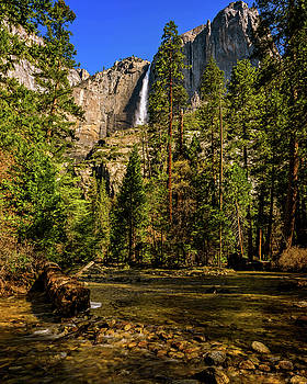 Upper Yosemite Falls from Yosemite Creek by John Hight