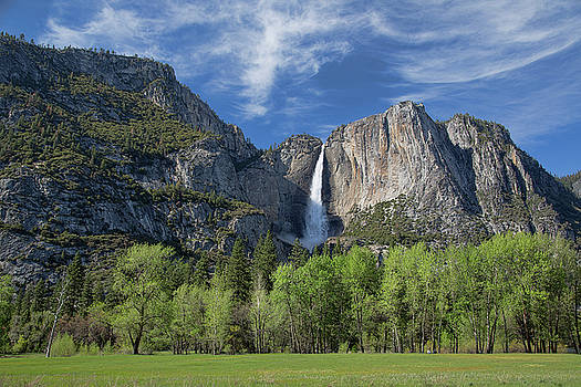 Upper Yosemite Falls in Spring by Cheryl Strahl