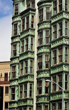 Urban Living in San Francisco - Old Green Apartment Building by Mark Hendrickson