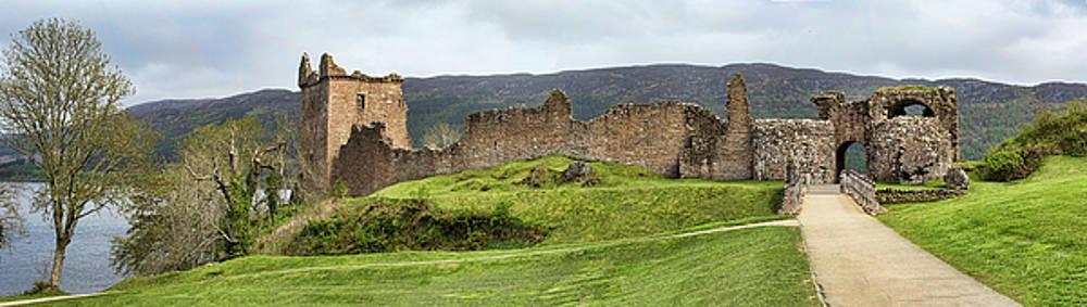 Urquhart Castle Panorama by Paul DeRocker