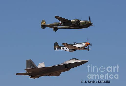 US Air Force Heritage Flight - 2007 by Antoine Roels