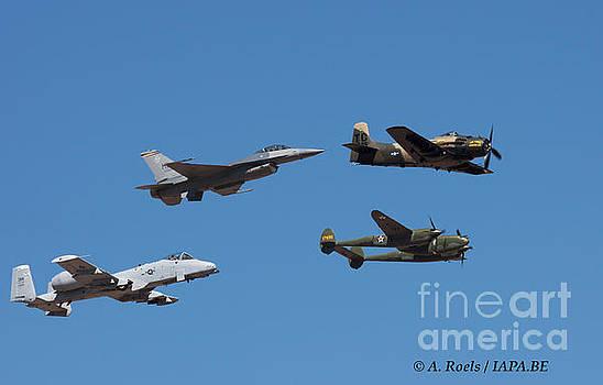 US Air Force Heritage Flight 2008 by Antoine Roels