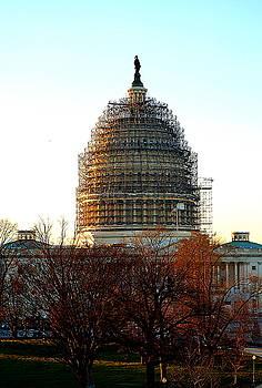 US Capitol Building Scaffolding Washington DC by Katy Hawk