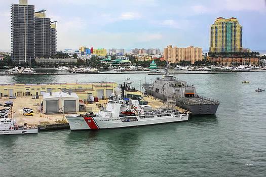 U. S. Coast Guard at Miami by John M Bailey