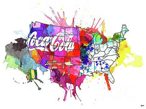 US Coke Map by Daniel Janda