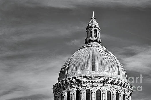 U.S. Naval Academy Chapel Dome bw by Jerry Fornarotto