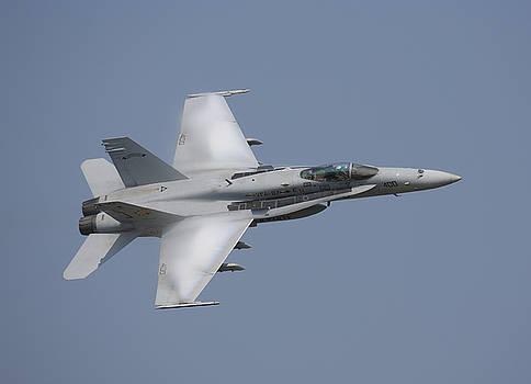 US Navy F/A-18C Hornet high speed pass by John Clark