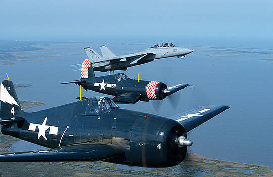 US Navy Lagacy Flight  by John Clark