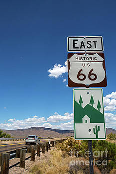 US Route 66 Sign Arizona by Steven Frame