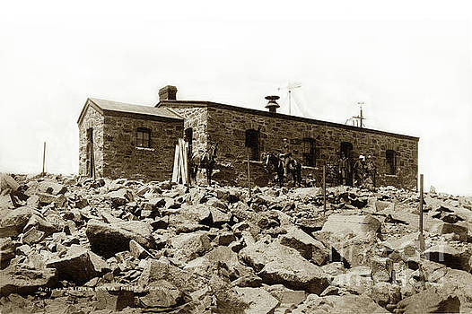 California Views Mr Pat Hathaway Archives - U.S. Signal Station on Pikes Peak in Colorado Circa 1885