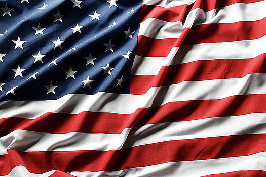 USA flag 49 by Les Cunliffe