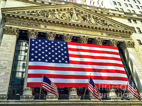 Julian Starks - USA Flag New York Stock Exchange