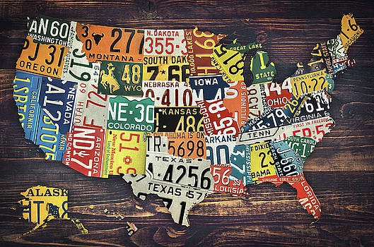 License Plate Map Of The United States by Zapista Zapista