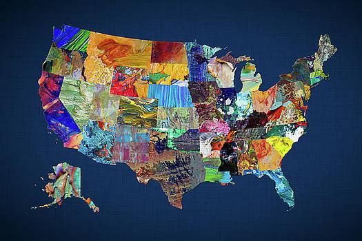 USA Map 1 by Malinda Spaulding