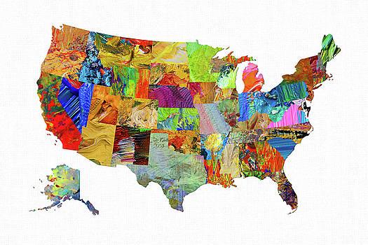 USA Map 10 by Malinda Spaulding