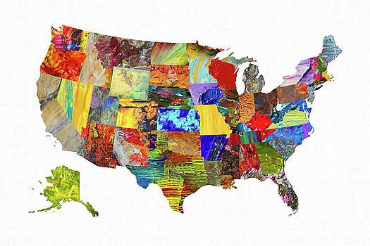 USA Map 11 by Malinda Spaulding