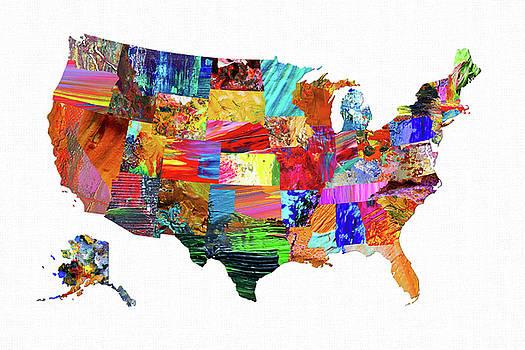 USA Map 12 by Malinda Spaulding