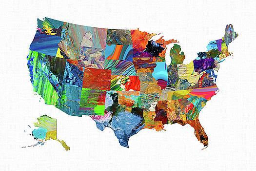 USA Map 13 by Malinda Spaulding