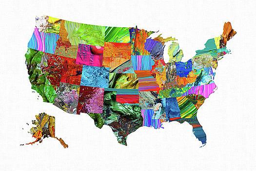 USA Map 15 by Malinda Spaulding