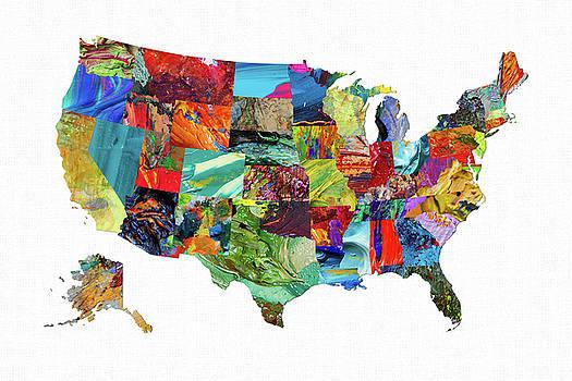 USA Map 16 by Malinda Spaulding