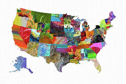 USA Map 17 by Malinda Spaulding