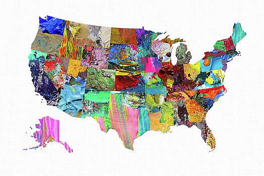 USA Map 18 by Malinda Spaulding