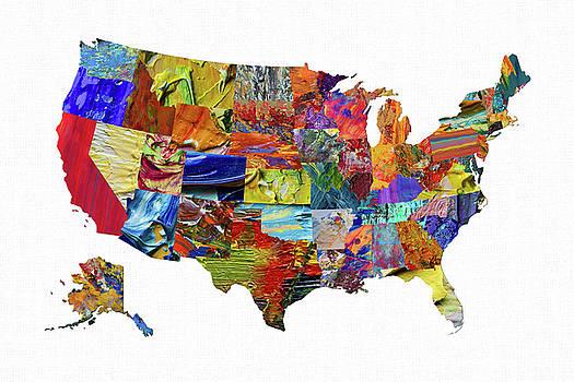 USA Map 19 by Malinda Spaulding