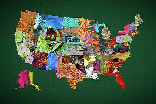 USA Map 2 by Malinda Spaulding