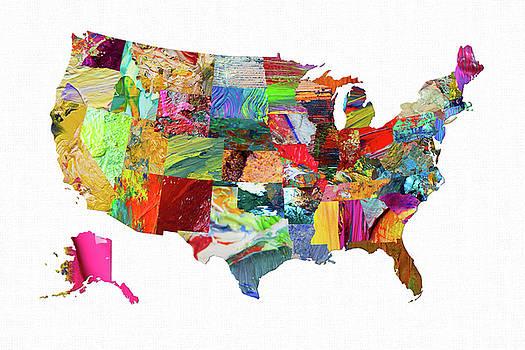 USA Map 20 by Malinda Spaulding