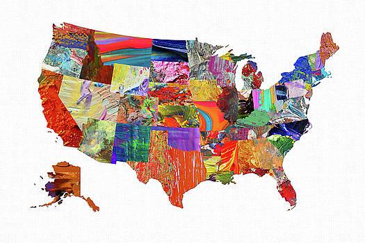 USA Map 21 by Malinda Spaulding
