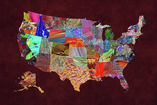 USA Map 3 by Malinda Spaulding
