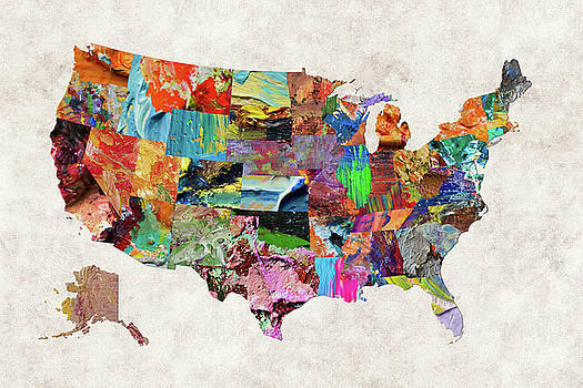 Usa Map Artwork for Sale Houston TX United States