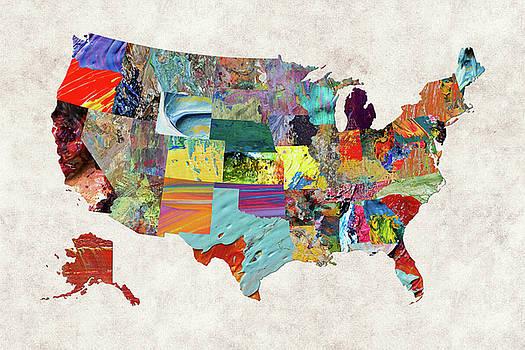 USA Map 5 by Malinda Spaulding