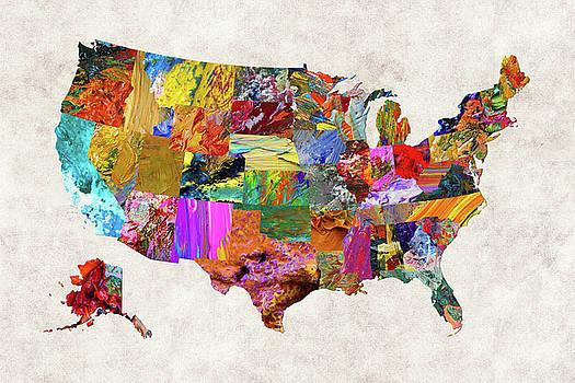 USA Map 6 by Malinda Spaulding