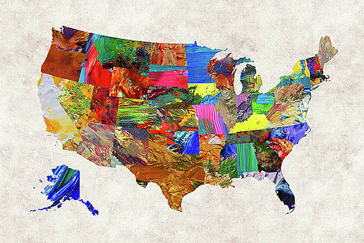 USA Map 7 by Malinda Spaulding