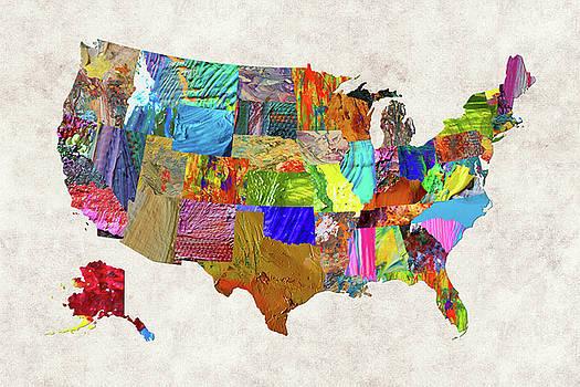 USA Map 8 by Malinda Spaulding