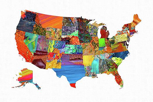 USA Map 9 by Malinda Spaulding