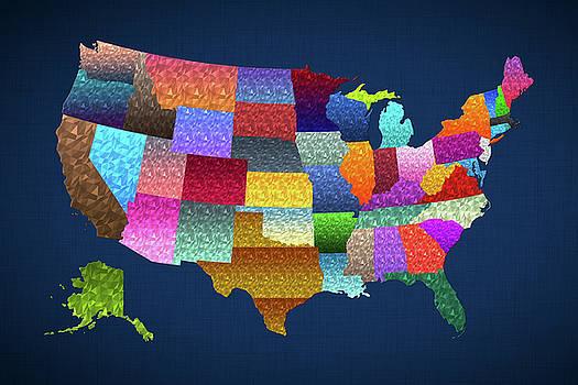 USA Map by Malinda Spaulding