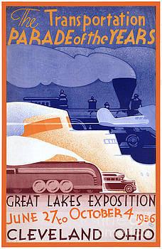 USA Ohio Expo Vintage Poster Restored by Carsten Reisinger